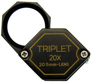 20mm 20x Black Hex Loupe
