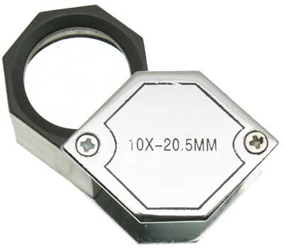 10x Chrome Hex Loupe, 21mm